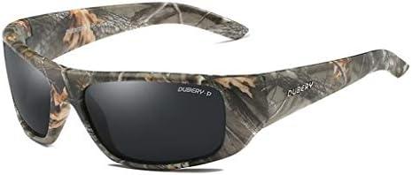 WANG LIQING Gafas de Sol polarizadas Hombres Camuflaje Envolvente para Hombres Mujeres Conduciendo 100% UV para Deportes u Otras Actividades en la ...