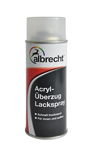 Lackfabrik J. Albrecht GmbH & Co. KG 3400405310700100400 Acryl-Überzug Lackspray 7001 hochglänzend 400ml