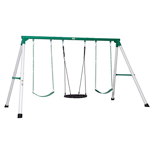 Backyard Discovery Little Brutus Heavy Duty Metal A-Frame Swing Set
