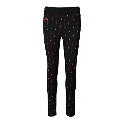 Diadora L. Leggings Logo broek dames katoen Stretch Sport Run 102.175874