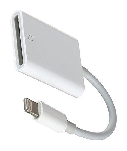 OKCS 8-Pin SD Card Reader Adapter - Cardreader - 10cm - Kartenleser kompatibel für Ihr iPhone 11, 11 Pro, 11 Max, XS, XR, XR Max, X, 8, 8 Plus, 7, 7 Plus, iPad Air, 2, iPad Pro kompatibel mit iOS 12