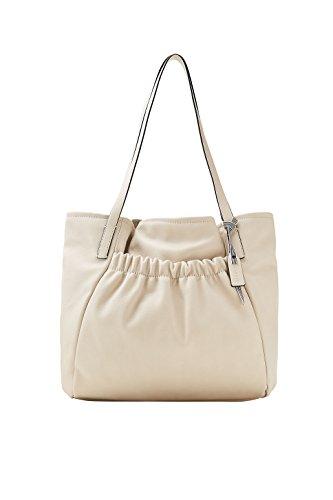 ESPRIT Damen Handtasche Tasche Henkeltasche Darcy Shopper Beige 048EA1O012-295