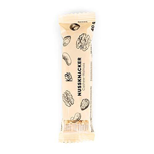 KoRo - Nussknacker Cashew-Walnuss | 12 x 40 g - vegan, glutenfrei