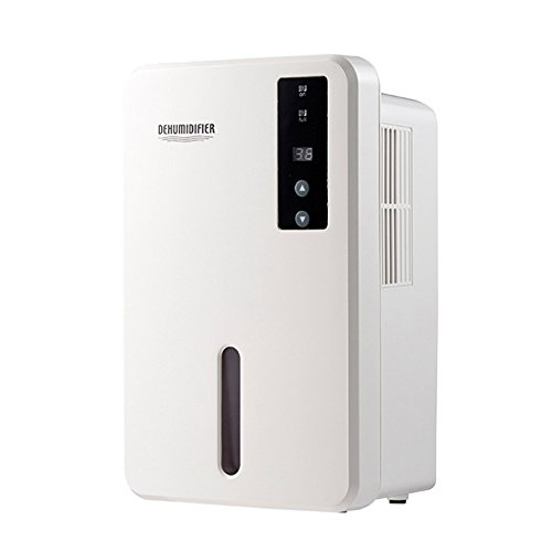 FociPow Portable Mini Dehumidifier, 2200 Cubic Feet (376 Sq.ft) Large 1.5L Tank Capacity Compact Dehumidifier Fit for Bathroom Home Closet Basements (White)