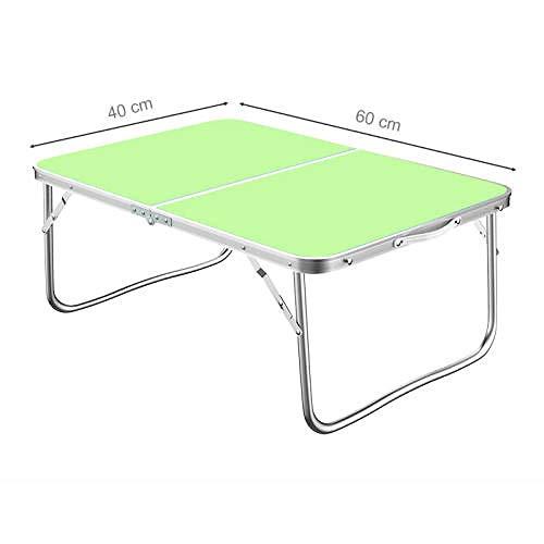 Feria familia jardín buffet hierro pie maleta, mesa de camping portátil mesa de camping, utilizado para picnic, playa, juegos-verde