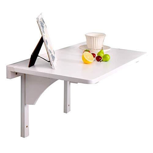 FVGH Opknoping opbergtafel bureau laptop stand massief hout bureau opvouwbare kaptafel voor de badkamer studie optioneel in verschillende maten wit 80 x 50 cm