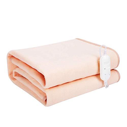 Manta térmica para colchón individual, 2 ajustes de calor, apagado automático, calentamiento rápido, para calentamiento completo, protección contra sobrecalentamiento, 150 x 130 cm JoinBuy.R