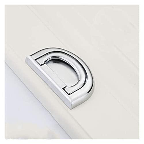 L.BAN Einfacher moderner versteckter Griff D Typ Design Türklopfer Jane European Pull Griffe Ring Küchenschrank Schublade Möbel Hardware Türklopfer (Farbe: Chrom)