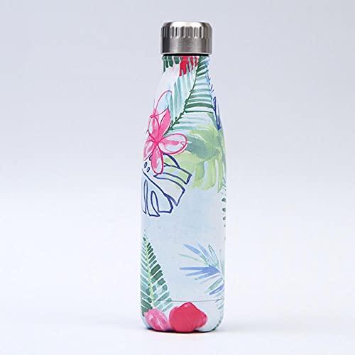 Frasco de vacío con aislamiento de doble pared de 500 ml, termo, botella de agua de acero inoxidable, botella de regalo de Navidad, ESPAÑA, 188