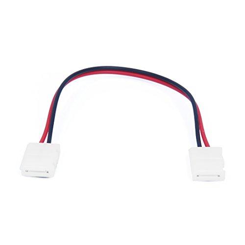 Kamenda 10 x 8mm LED Conector de cinta de PCB/Cable de adaptador LAN para RGB tira sin soldadura