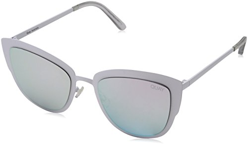 Quay Eyewear zonnebril dames Super Girl, wit (wit/paars), 147