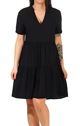 ONLY Damen Viskose Kleid Onlnova Life Thea 15222214 Black S