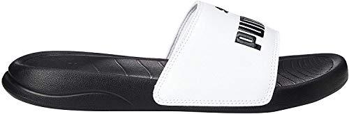 PUMA Popcat 20 JR, Zapatos de Playa y Piscina Unisex niños, Blanco White Black, 37 EU