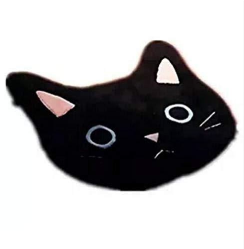 buycheapDG(JP) 猫 敷物ラッキー黒猫柔らかい敷物サンゴベルベット滑り止めマット玄関マットカーペット用ホームトイレ寝室洗濯室リビングルームドアクリスマスホリデーホリデーギフト