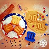 sps marketing Uncle Sam Hat Cookie Cutter (4th of July Special Edition) for Kids bakeware Cookie Cutter Bone