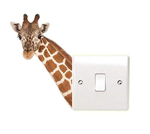 Pegatina de vinilo para pared, diseño de cabeza de jirafa