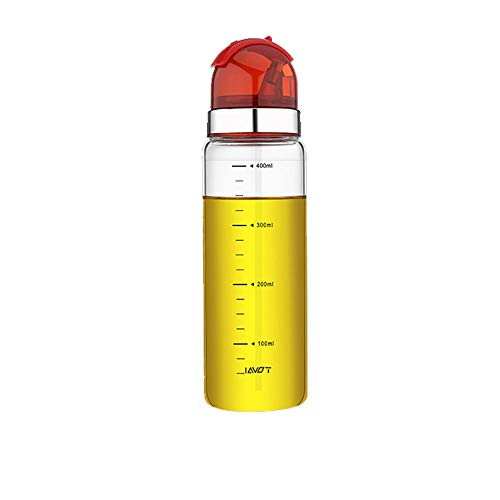 Hanpiyigyh Aceitera, Botella de aceite de vidrio Botella a prueba de fugas Cocina Tanque de aceite Pequeño Sésamo Aceite Condimento Botella Tarro de aceite Salsa de soja Botella de vinagre con tapa (a