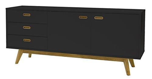 designbotschaft: Sideboard 70er Style Olbia Schwarz