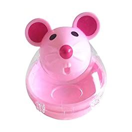 display08 Pet Cat Kitten Mouse Shape Treat Holder Food Storage Dispenser Chew Play Toy