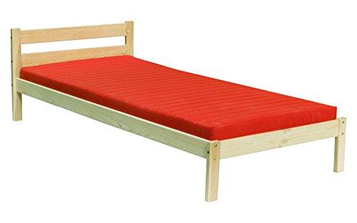 silenta Bio Kindermöbel Manufaktur Bett 90x200cm 100x200cm Massivholz mit Rost direkt vom Hersteller (unbehandelt, 90 x 200 cm)