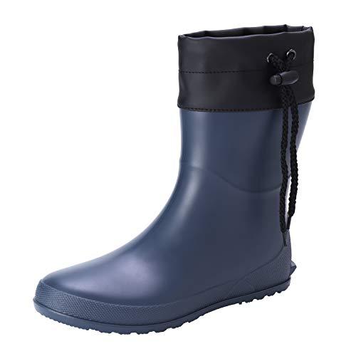 Asgard Women's Short Rain Boots Mid Calf Collar Shoes Ultra Lightweight Garden Boots BL38