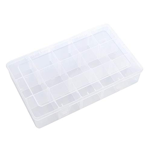 15 Grids Plastic Transparent Multi Function Adhesive Tape Washi Storage Box Diy Stationery Tapes Organizer Case Supplies,Transparent