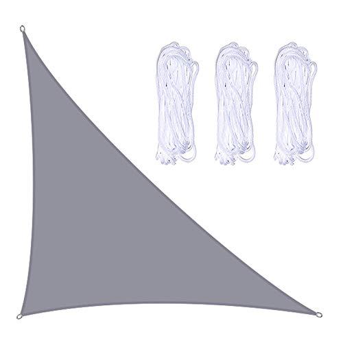 æ— Toldo triangular para sol, resistente a los rayos UV, transpirable, ángulo recto con 3 cuerdas, para exteriores, jardín, patio, fiesta, patio, camping, refugios (3 x 4 x 5 m)