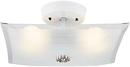 NOMA Flush Mount Light Fixture Ceiling Light with 60 W is Perfect for Your Bedroom Kitchen Hallway product image