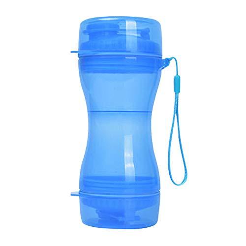 Botella de Comida de Agua para Perros, 610 ml Taza para Mascotas al Aire Libre, Taza para Mascotas Portátil, con Cordón, para Viajes de Mascotas al Aire Libre, Taza para Beber para Caminar (Az
