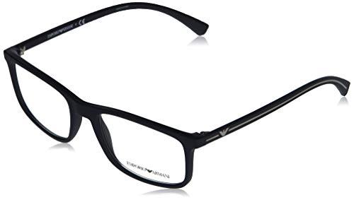 Emporio Armani 0EA3135 Monturas de gafas, Blue Rubber, 55 para Hombre