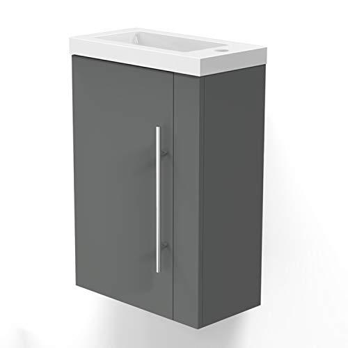 Xinyang Badmöbel Lorenza Anthrazit 45 cm waschbecken mit unterschrank Soft-Close Funktion - Unterschrank Waschtisch Möbel