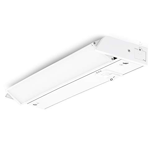 PARMIDA LED Swivel Under Cabinet Lighting, Hardwired or Plug-in Installation, 3 Color Temperature Slide Switch, Rotatable Lens, Dimmable, Linkable, ETL & Energy Star, 3000K-5000K, 120V, 8W – 12 Inch