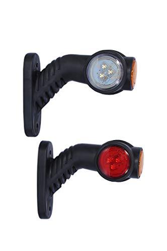 2x 12V LED Umrissleuchte Positionsleuchte Markierung Begrenzungsleuchte Neu Positionsleuchte Anhänger LKW Gelb Rot Weiß