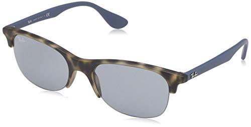 Ray-Ban 0RB4419 Gafas de sol, Rubber Grey Havana, 53 Unisex
