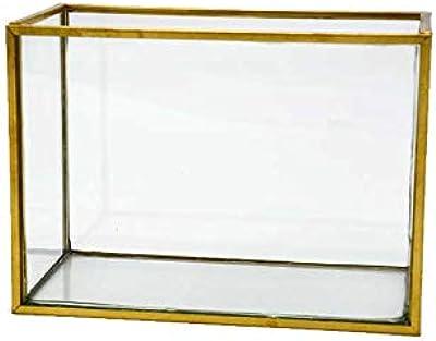 ブラスフレーム ガラスベース フレームポットフラワーベース 花瓶 花器 ガラス ブラス 真鍮 きれい ディスプレイ おしゃれ アンティーク 北欧 アジアン雑貨 輸入雑貨