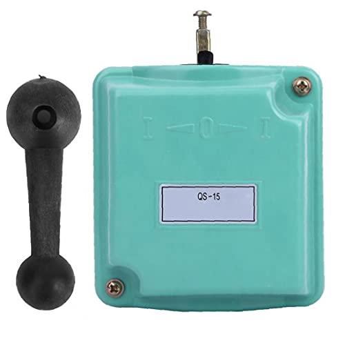 LAANCOO Interruptor de Tambor hacia Delante Fuera de Control de inversión Rotary CAM Arranque QS-15 para la monofásico Motor trifásico