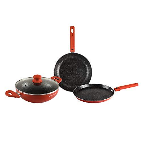 Wonderchef Power Cookware Set of 3 - (Orange)