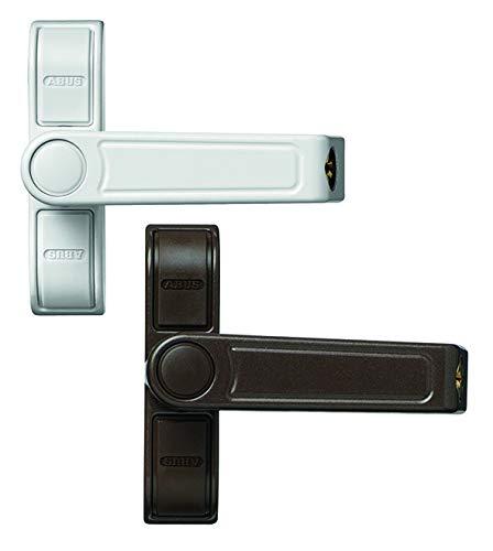 ABUS Fenster-Zusatzsicherung 2410 AL0125 - Sicherheitsschloss mit Schwenkriegel für einflügelige Fenster, gleichschließend - ABUS-Sicherheitslevel 6 - 89618 - Braun