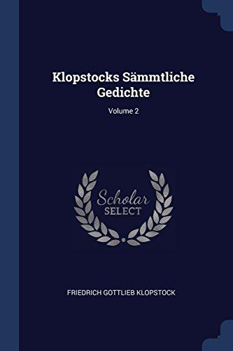 KLOPSTOCKS SAMMTLICHE GEDICHTE