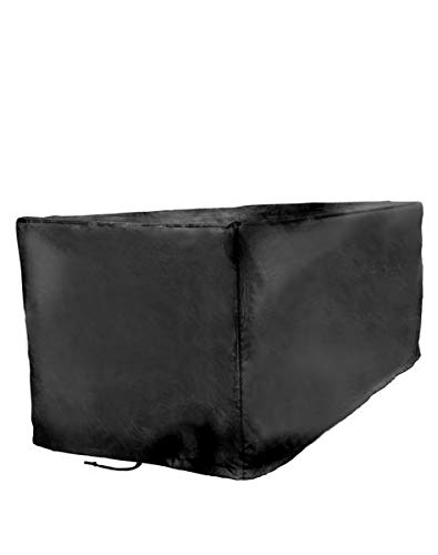 Sturdy Covers Deck Box Defender Cover - All-Season Outdoor Deck Box Cover (Black, Large)