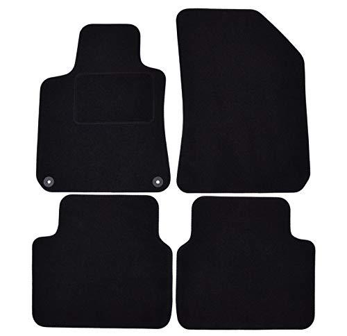 J&J AUTOMOTIVE | Tapis DE Sol Noir Velours Compatible avec Peugeot 308 SW 2014-2021 4 pcs