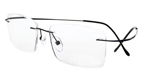 Eyekepper Titan randlose Brillen Herren (Schwarz,+0.00)