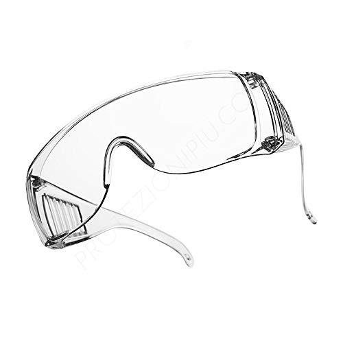 Occhiale Protettivo - Occhiali protettivi di sicurezza - Mascherina protettiva - Occhiali Protettivi Anti Appannamento - Occhiali protettivi per protezione totale della zona oculare