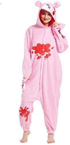 Xx101 Kigurumi Men Pajamas Nero Pink Onesies Pile Adulto...