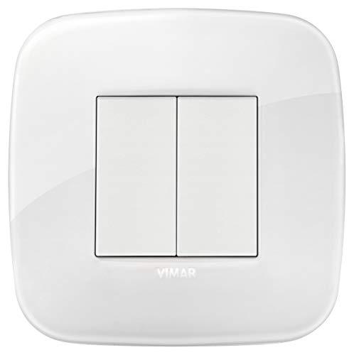 VIMAR 0K03925.06 Arké Kit comando connesso, senza fili e senza batteria, VIEW Wireless standard Bluetooth completo di supporto, tasti,placca 2M