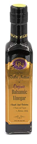 "Dolce Nettare ""Thick Organic"" Balsamic Vinegar (Barrel Aged) High Density 1.33, Imported from Modena, Italy...(250 ml) Includes Free Deluxe Pour Spout"