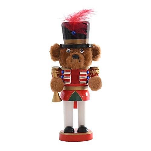 Magent Weihnachten Nussknackerfiguren Nussknacker Figur | Weihnachten Nussknacker Holzbär Soldat Walnuss Dekoration Puppe