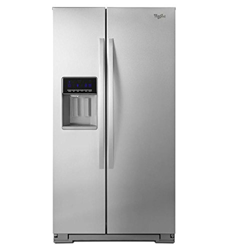 Whirlpool WRS571CIDM 20.6 Cu. Ft. Stainless Steel Counter Depth Side-By-Side Refrigerator - Energy Star