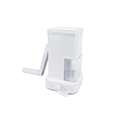 BuyStar Grattugia Manuale da Tavolo con manovella e Rullo - da tavola con Ventose Anti Scivolo - con cassetto capiente Porta Formaggio