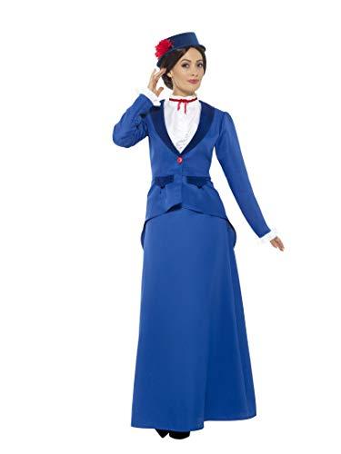 Smiffys Damen Vikorianisches Kindermädchen Kostüm, Jacke mit Oberteil, Rock und Hut, Größe: XL, 46753